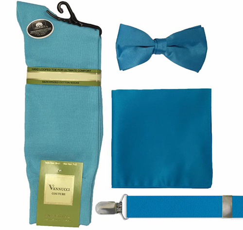 bow tie, suspenders and hankerchief sets